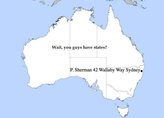 Ah So That S What Inspired This Map Labeled Australia As Labeled By An American