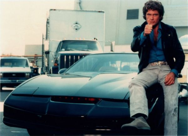 KITT car with David Hasselhoff, aka Michael Knight