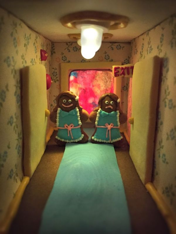 The shining told in gingerbread neatorama for Overlook hotel decor