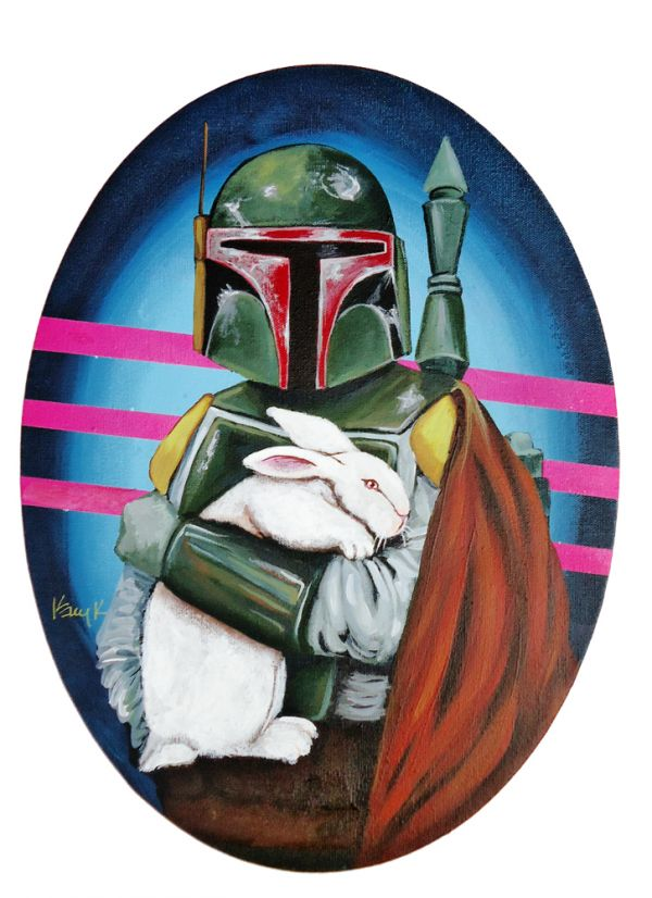 Boba Fett and his rabbit