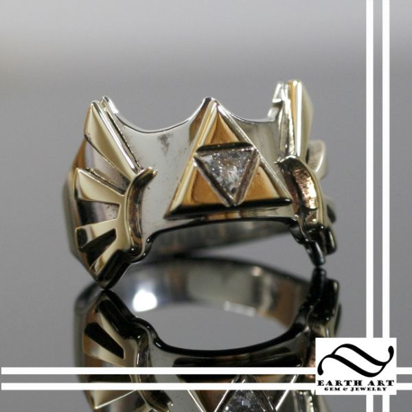 geeky wedding rings inspired by bioshock star trek and more - Star Trek Wedding Ring