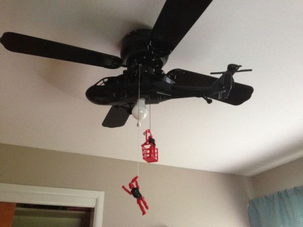 Homemade Helicopter Ceiling Fan Neatorama