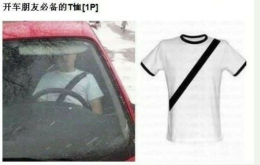 Chinese driver's t-shirt