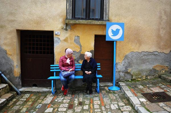"Artist Brings ""Real Life"" Internet to the Elderly Residents of a Village"