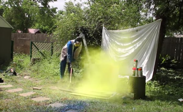 Exploding Spray Paint Cans in Slow-Motion
