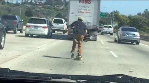 Freeway Skateboarding Is Becoming A Trend In California