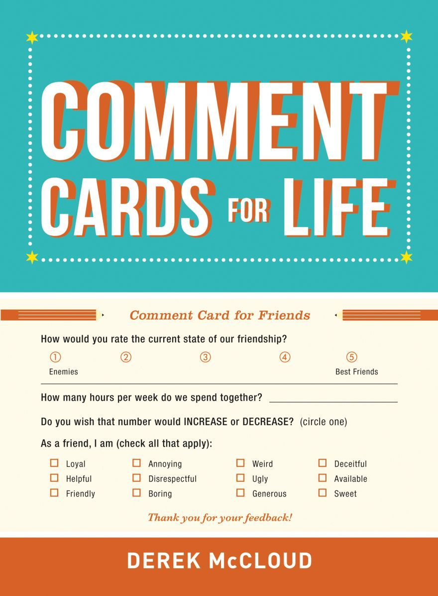 Comment Cards For Life Neatorama