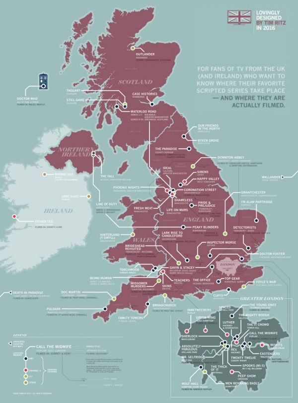 The Map of British Television