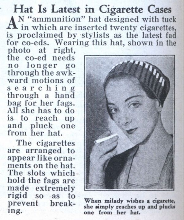 cigarette hat