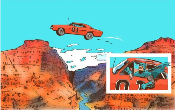 Batman Jumping The General Lee Over A Canyon Neatorama