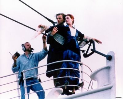 Filming of the titanic movie
