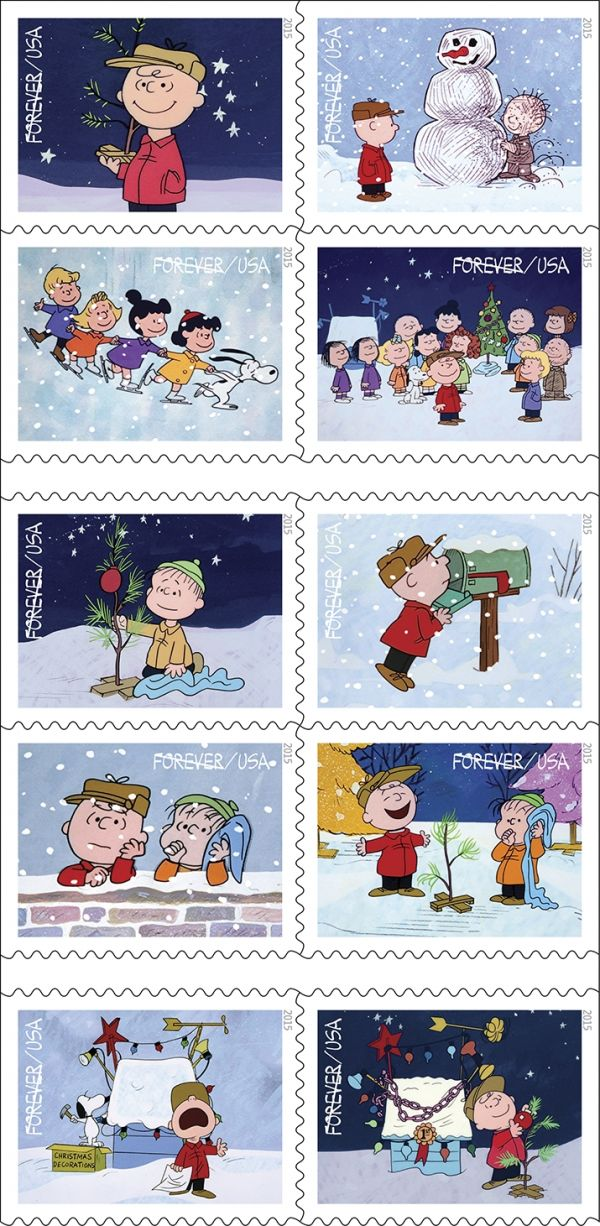 """A Charlie Brown Christmas"" Stamps for Peanuts' 65th Anniversary"