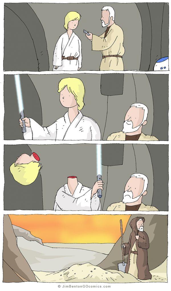 Luke Gets a Lightsaber