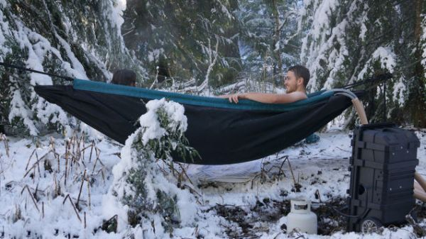 The Hot Tub Hammock Neatorama - Hammock shaped bath tub