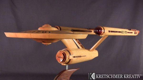 Elegant Starship Enterprise Is Masterpiece of Woodworking