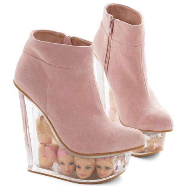 Crocs Uggs No The Future Is Barbie Head Shoes Jeffrey Campbell Designed These Gorgeous Wedges That Will Definitely Make People Look At You Twice