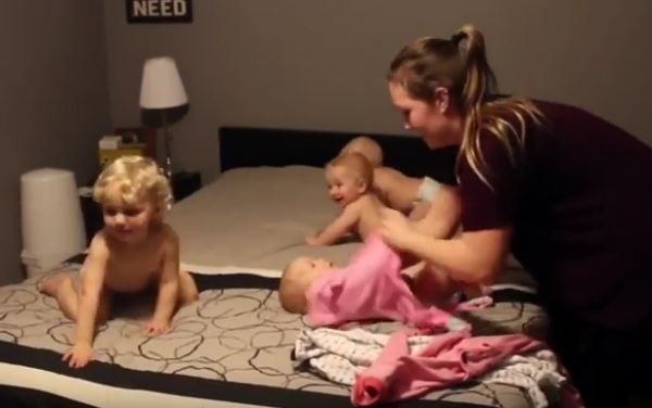 Mom vs. Triplets and Toddler