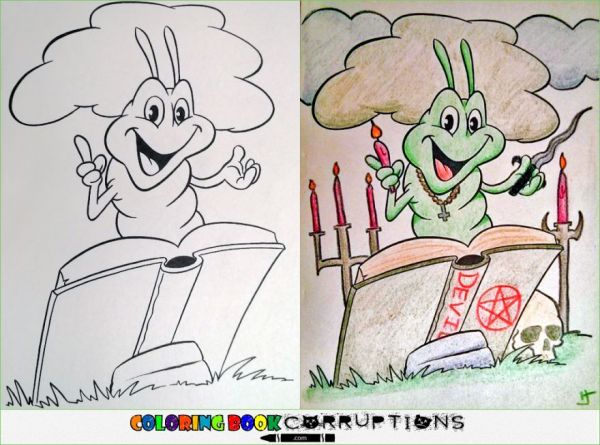 Corrupted Coloring Book Pages