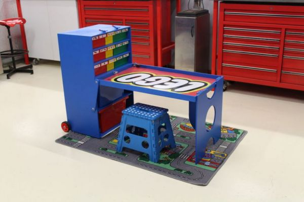 Awesome Dad Builds Portable Lego Creation Station For His