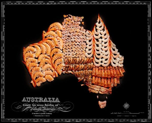 Food maps of the world neatorama who brought us deep fried gadgets and gingerbread galleries now have created a series of maps of places all over the world made of food gumiabroncs Choice Image