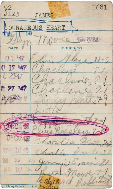 Graceland archives include Elvis  library card from the Tupelo Public  Library from when he was 13  This was despite the fact that the church to  which his. Elvis Presley  the Voracious Reader   Neatorama