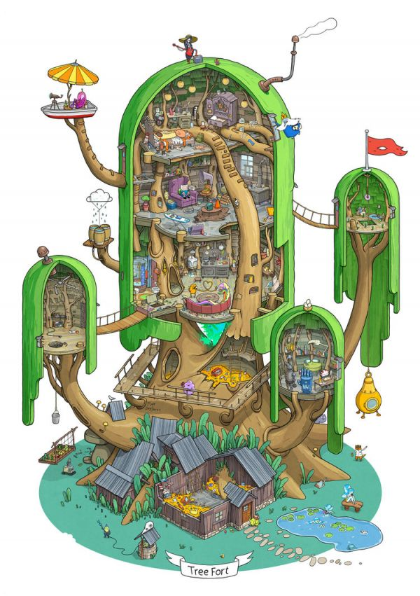 Realistic Room Drawing: Awesome Fan Art Offers A Detailed Look At Finn And Jake's