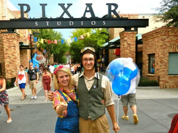 disney world with her main squeeze dressed as carl and ellie from upCarl And Ellie Costumes