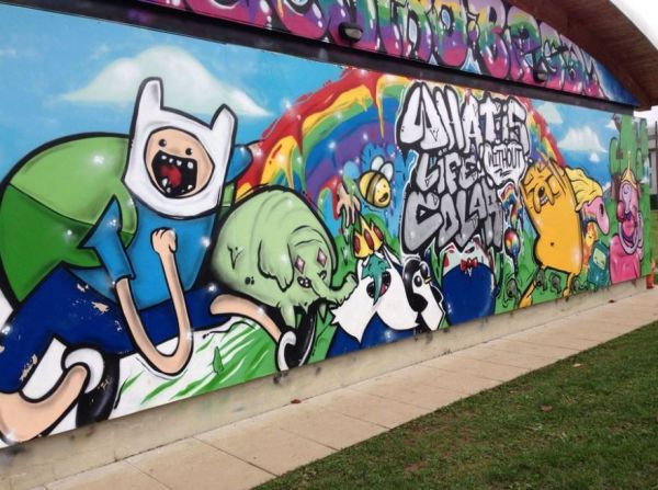 Fantastic Adventure Time Mural Neatorama