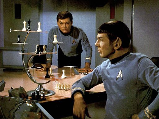 Spock plays chess