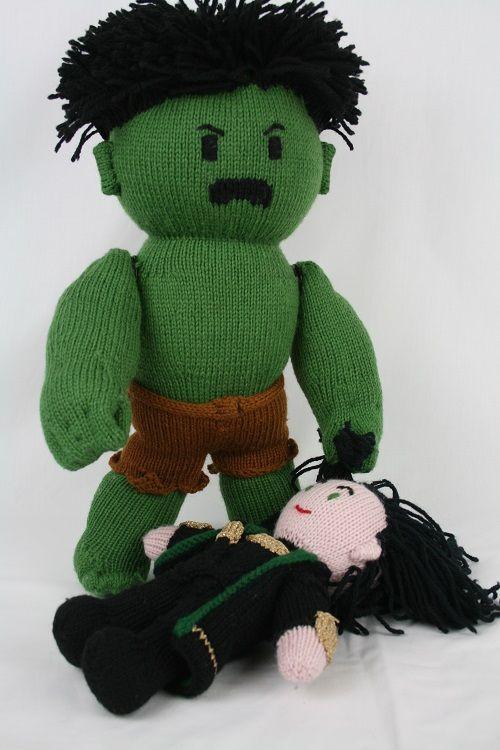 knit hulk doll has bruce banner inside