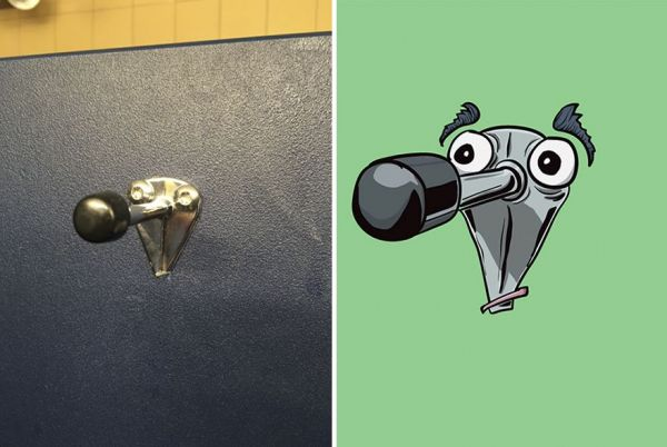 Artist Creates Characters Based On The Faces He Sees On Inanimate Objects
