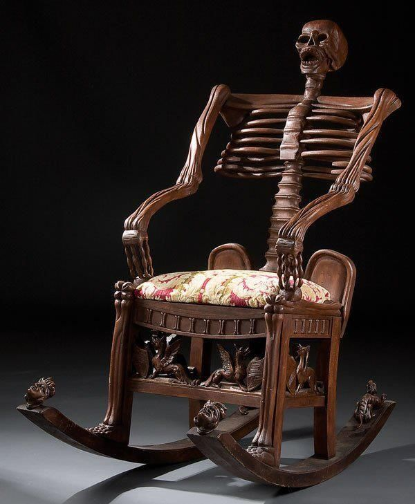 skeletal rocking chair neatorama. Black Bedroom Furniture Sets. Home Design Ideas