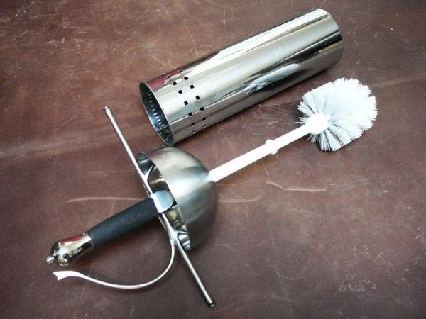 toilet brush sword
