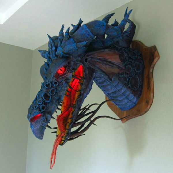 The paper mache creations of dan reeder neatorama for Things made out of paper mache