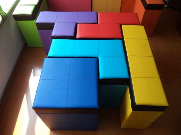 Etsy Seller Andrea Y Diego Makes Storage Benches That Are Shaped And  Colored Like Blocks From The Classic Video Game Tetris. Each Square Of Her  5 Piece Set ...