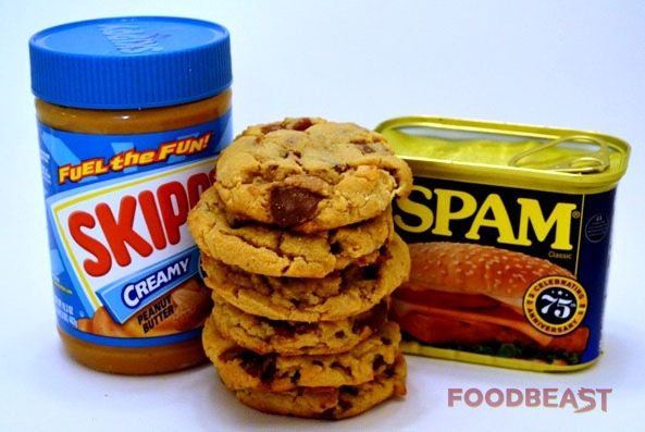 spam and peanut butter cookies