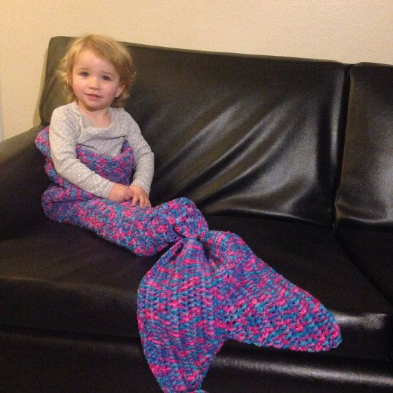 Knitting Pattern For Child s Mermaid Blanket : 27 Etsy Finds That Kids Would Love - Neatorama