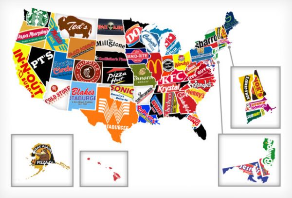 When The Corporate States Of America Map Came Out I Was Disappointed Not To See Kfc As The Brand Associated With Kentucky That Is Corrected In This