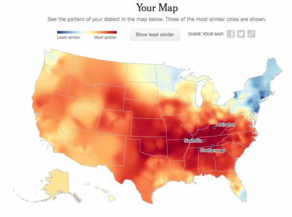 Mapping Your Dialect Neatorama - Us dialect map
