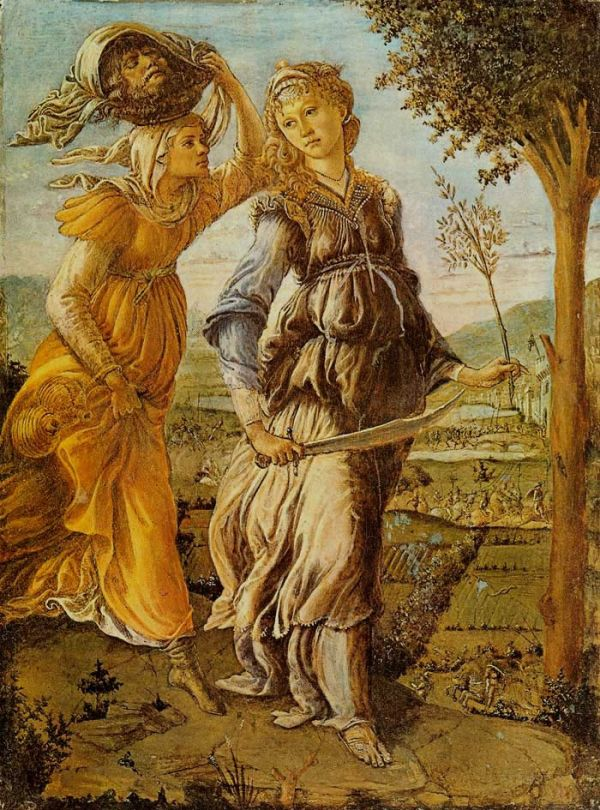 Return of Judith to Bethulia. Botticelli, 1470