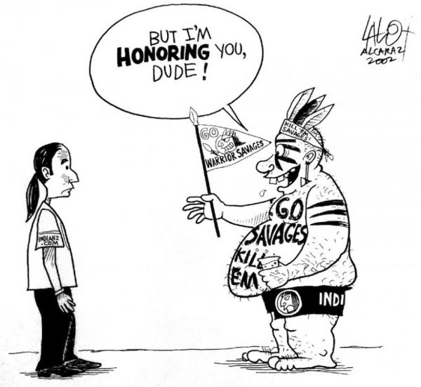 native american mascots in sports essay 2009-10-6  it's been a prickly topic for years, even decades it spans not just every professional sport, but collegiate sports as well depending on who you talk to, it's a stain on the organizations it affects or a way of honoring those who came before us.