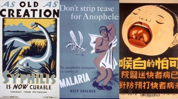 A Collection Of Vintage Public Health Posters