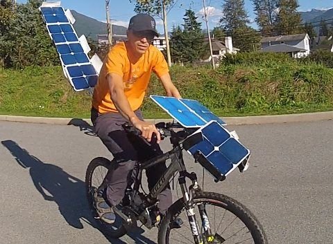 electric bike can move exclusively through solar energy. Black Bedroom Furniture Sets. Home Design Ideas