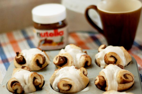 Nutella cream cheese rolls