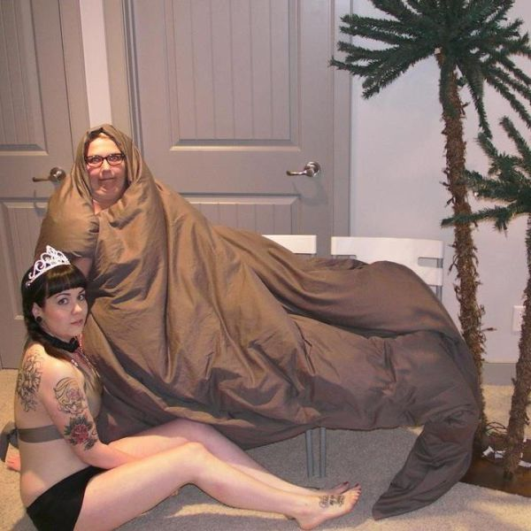 Jabba and Leia