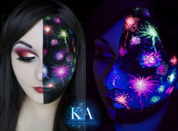 black light fireworks makeup neatorama. Black Bedroom Furniture Sets. Home Design Ideas