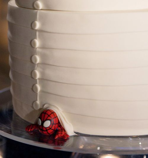 Its Not The First Time Spider Man Has Sneaked In And Crashed A Wedding Cake