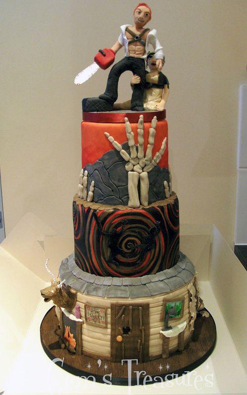 Otaku Love Story Wedding Cake Toppers