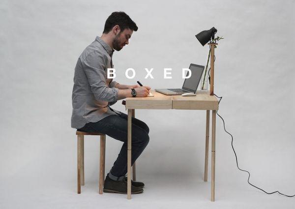 Small Suitcase Turns Into Desk Neatorama