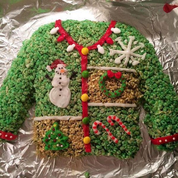Christmas and Hanukkah Rice Krispie Treats - Neatorama
